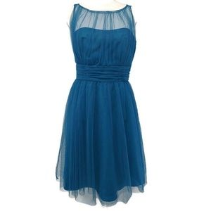 Alfred Angelo Dress Bermuda Blue Sz 8 Bridesmaid